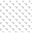 unique digital shrimps seamless pattern with vector image