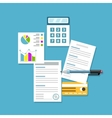 Office workplace Paperwork analytics flat vector image