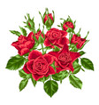 decorative element with red roses beautiful vector image