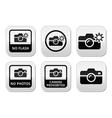 No photos no cameras no flash buttons vector image vector image