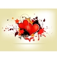 Grunge abstract background with heart vector image