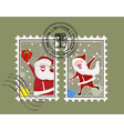 xmas stamp vector image vector image