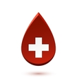Abstract red drop medical symbol vector image