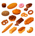 bread and rolls vector image