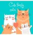 Cute card with family cats vector image