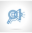 Search ads icon blue line style vector image