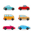 set icon transportation cars of differents colors vector image