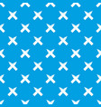 two crossed pencils pattern seamless blue vector image