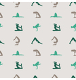 yoga pattern vector image