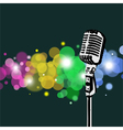 Retro Microphone abstract Spotlight vector image