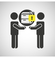 silhouette men file business internet safety vector image