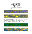 Pattern brush strokes of reptile skin doodle vector image