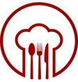 abstract icon with chef hat vector image