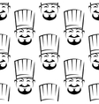 Smiling chefs seamless background pattern vector image vector image