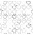 seamless pattern with spiral curls vector image