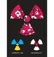 Sakura in the radiation symbol vector image vector image