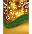 elegant golden christmas background eps 8 vector image vector image