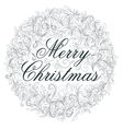 Merry Christmas retro poster vector image vector image