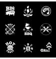 barbeque labels set vector image