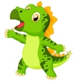 Cute baby stegosaurus cartoon vector image