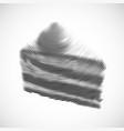 Hand drawn slice of cake vector image