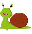 happy snail cartoon vector image