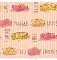 pancake Seamless pattern with vector image