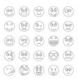 smile icon set outline style vector image
