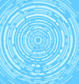 Techno abstract blue background vector image