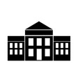 white house isolated icon vector image
