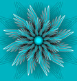 blue fantasy flower in optical art style vector image vector image