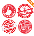 Stamp sticker original collection - - EPS10 vector image