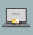 relax vector image vector image