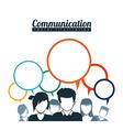 speech bubbles communication vector image