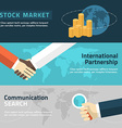 Flat design concept for marketing partnership vector image