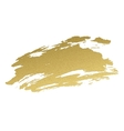 Gold acrylic paint vector image