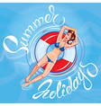 girl summer holidays 380 vector image
