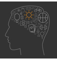 icons leisure human brain vector image