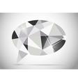 Abstract beautiful diamond speech bubble vector image