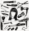 barbers stuff vector image