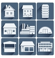 buildings set vector image