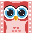 card with cute owl vector image