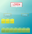 Corporate Modern Chart Template vector image