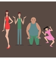 Different flat characters vector image