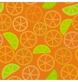 fresh citrus outline seamless pattern vector image