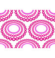 glass beads necklace pattern vector image