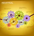 industrial mechanism template vector image