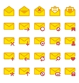 Large icon set e-mail vector image