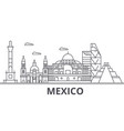 mexico architecture line skyline vector image