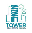 tower real estate agency symbol vector image